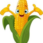 corn cartoon icon